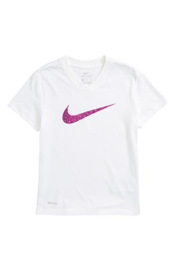 Girls Nike DriFit Swoosh Graphic Tee