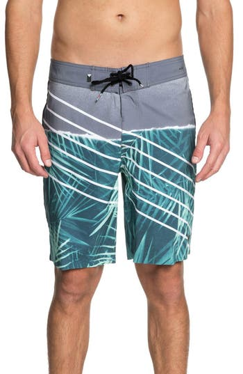 Quiksilver Highline Palm Board Shorts, Green