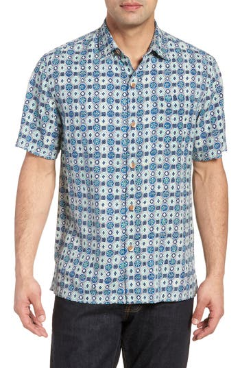 da3667b4 ... UPC 719260249752 product image for Men's Tommy Bahama Tulum Tiles Silk  Camp Shirt, ...