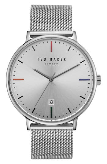 Ted Baker London Norton Mesh Strap Watch, 42mm