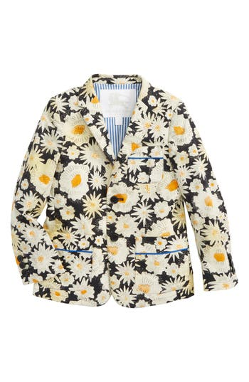 Boys Burberry Tuxy Floral Print Jacket
