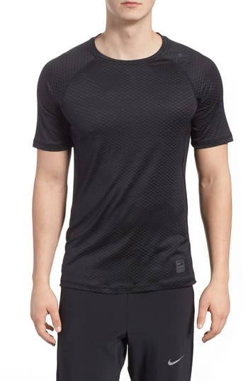 Nike Pro Hypercool Fitted Crewneck T-Shirt, Black