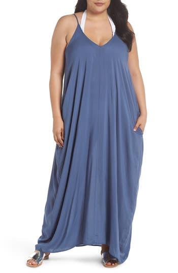 Plus Size Elan Cover-Up Dress, Blue