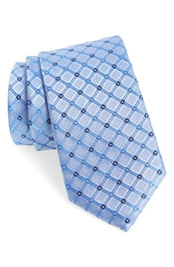 Men's Nordstrom Men's Shop Coventry Check Silk Tie, Size Regular - Blue