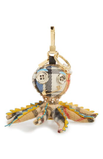 Burberry Sally The Octopus Cashmere Bag Charm - Yellow