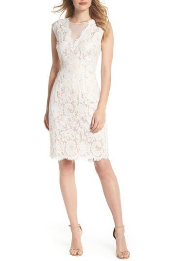Vince Camuto Illusion Lace Sheath Dress