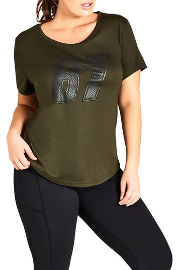 Plus Size City Chic 87 Tee, Green