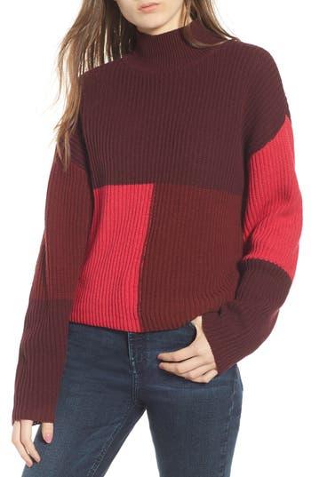 BP. Mock Neck Colorblock Sweater