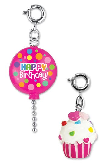 Girls High Intencity Charm It 2Pack Birthday Balloon  Cupcake Charms