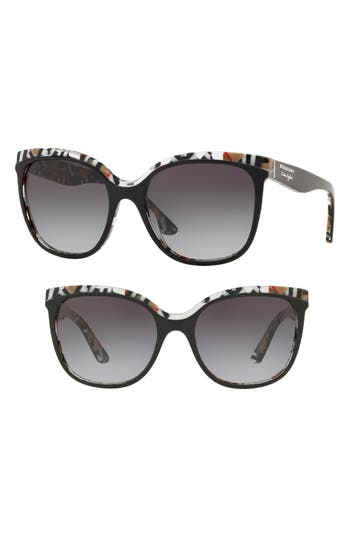 Burberry Marblecheck 55mm Square Sunglasses
