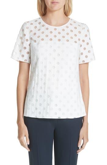 Women's Akris Punto Dot Blouse, Size 10 - Ivory