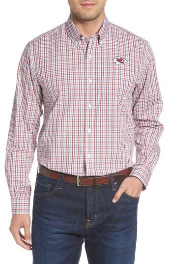Cutter & Buck Kansas City Chiefs - Gilman Regular Fit Plaid Sport Shirt
