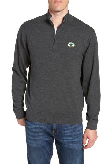Cutter & Buck Green Bay Packers - Lakemont Regular Fit Quarter Zip Sweater