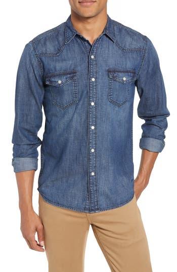 Men's Frame Pc Slim Fit Denim Western Shirt