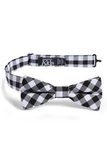 Boys Nordstrom Check Cotton Bow Tie Size Big Boy  Black