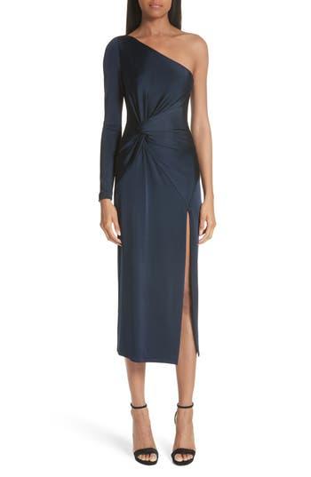 Cushnie et Ochs Denise Twist Detail One-Shoulder Dress