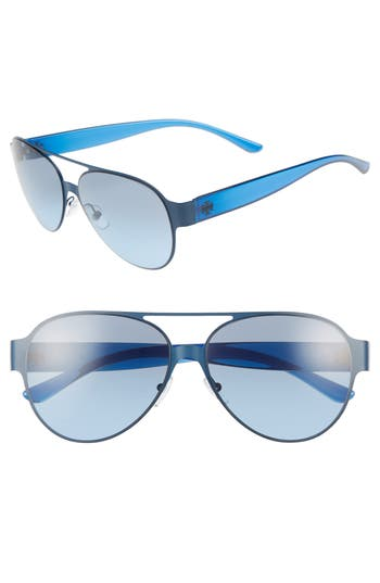 Tory Burch 58mm Polarized Aviator Sunglasses