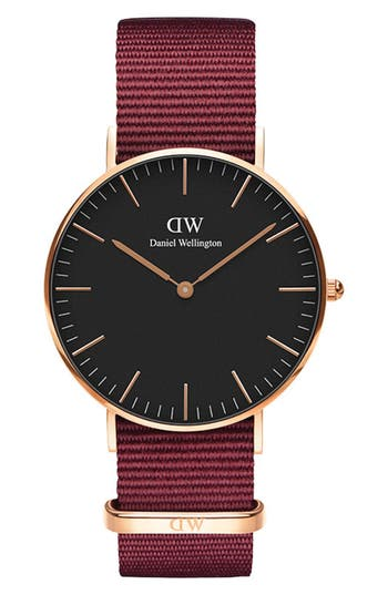 Daniel Wellington Classic Roselyn Nylon Strap Watch, 36mm