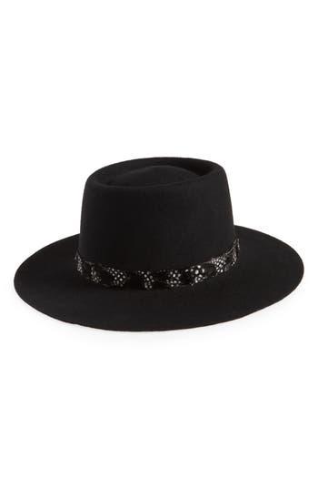 Treasure & Bond Wool Boater Hat