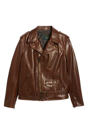 Schott NYC '50s Oil Tanned Cowhide Leather Moto Jacket