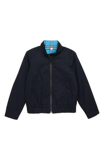 Boys Burberry Harrington Reversible Jacket Size 4Y  Blue
