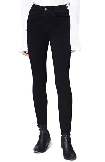 SANCTUARY SOCIAL HIGH-RISE SKINNY ANKLE JEANS IN BLACK