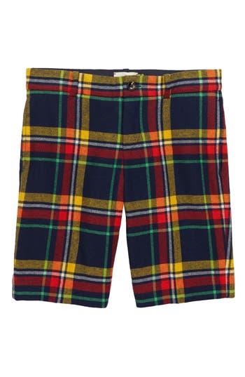 Boys Gucci Plaid Bermuda Shorts