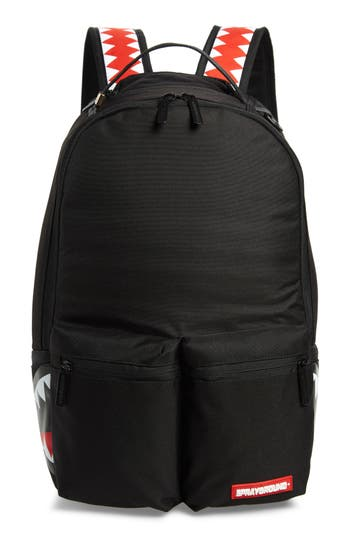 SPRAYGROUND BLACK CARGO SHARK BACKPACK - BLACK