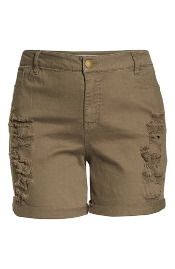 Ripped Bermuda Shorts