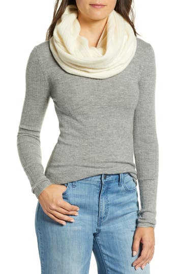 Halogen® Solid Cashmere Infinity Scarf