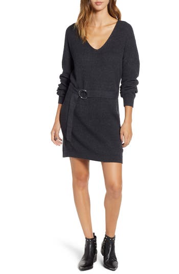 BP. Belted Sweater Dress
