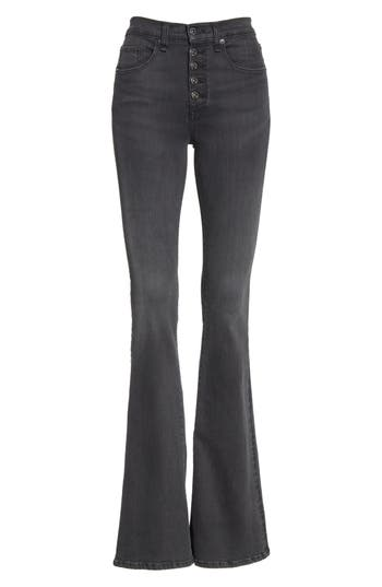 VERONICA BEARD BEVERLY BUTTON FLY SKINNY FLARE JEANS