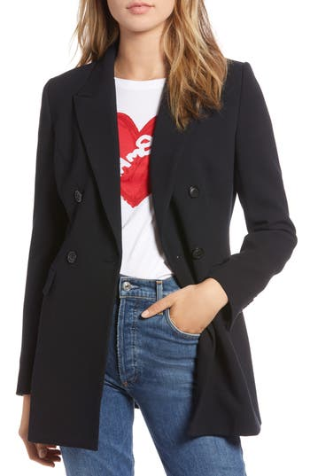 1901 Double Breasted Crepe Blazer