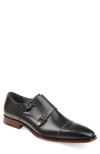 THOMAS AND VINE Rockwell Double Strap Cap Toe Monk Shoe