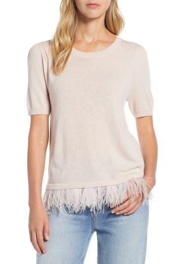 Halogen® Feather Hem Sweater