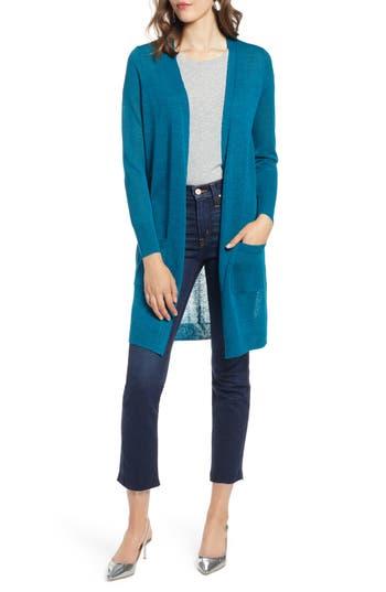 Halogen® Long Linen Blend Cardigan
