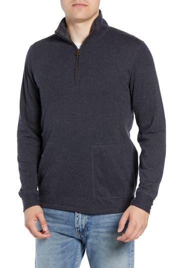 Billy Reid Charles Regular Fit Half Zip Sweater