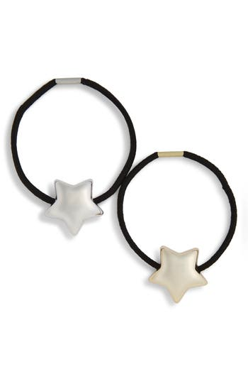 Cara 2-Pack Metal Star Ponytail Holders