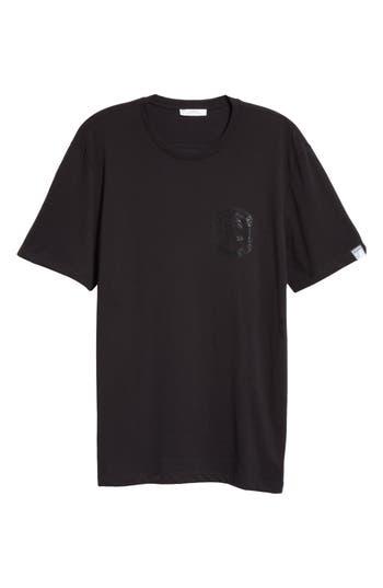 Men's Versace Collection Half Medusa Logo T-Shirt, Size Small - Black