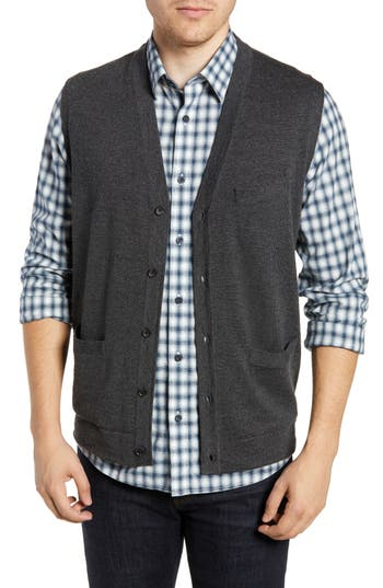 Nordstrom Men's Shop Merino Button Front Sweater Vest