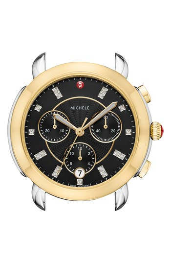 MICHELE Sidney Chronograph Diamond Watch Head, 38mm