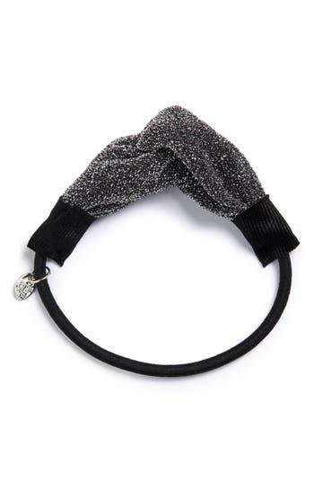 Cara Metallic Yarn Twist Ponytail Holder