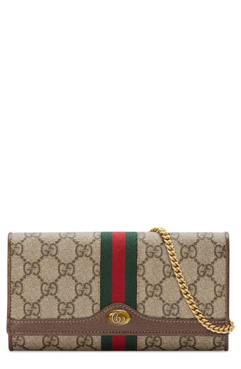Gucci Ophidia GG Supreme Wallet on a Chain