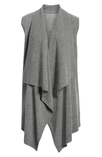 Halogen® Wool & Cashmere Drape Front Sweater Vest