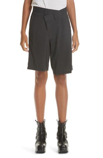 R13 Crossover Pinstripe Shorts