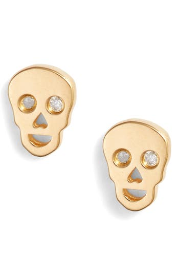 Syd by Sydney Evan Skull Earrings