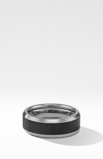 David Yurman Beveled Titanium Band Ring