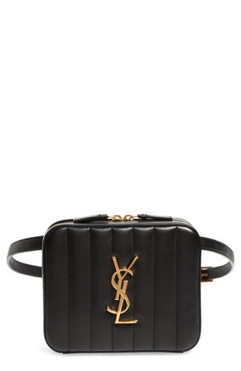 Saint Laurent Vicky Lambskin Leather Belt Bag
