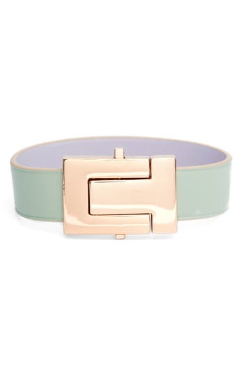 Tory Burch T-Leather Strap Bracelet