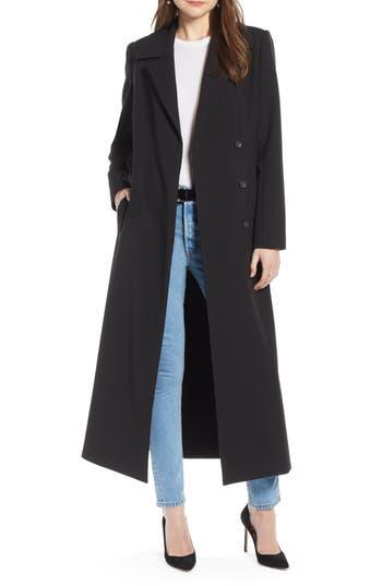 Something Navy Long Feminine Coat